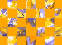 Colorful abstract geometric background with squares. Colorful abstract hand painted geometric background with squares Royalty Free Stock Image