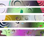 Colorful Abstract header with fantasy. Set of header made with floral fantasy Royalty Free Stock Photo