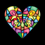Colorful Abstract Heart Stock Images