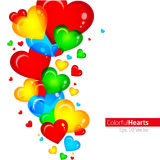 Colorful abstract hearts Royalty Free Stock Photos