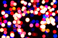 Colorful abstract holiday lights Stock Images