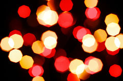 Colorful abstract holiday lights Royalty Free Stock Photo