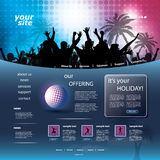 Party Website Template Royalty Free Stock Photos
