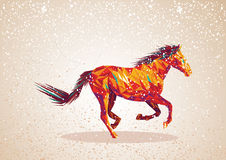Colorful abstract horse shape. royalty free illustration