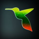 Colorful abstract hummingbird Royalty Free Stock Photography
