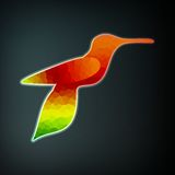 Colorful abstract hummingbird Royalty Free Stock Photo