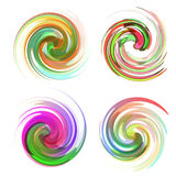 Colorful abstract icon set. Royalty Free Stock Images