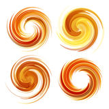 Colorful abstract icon set. Dynamic flow illustration. Stock Photo