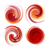 Colorful abstract icon set. Dynamic flow Stock Photography