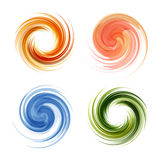 Colorful abstract icon set. Dynamic flow Stock Photo