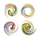 Colorful abstract icon set. Dynamic flow Stock Images