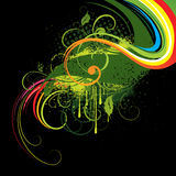 Colorful abstract illustration. With retro and grunge styling, isolated against a black background vector illustration