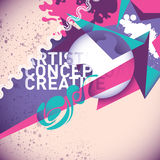 Colorful abstract illustration. Royalty Free Stock Photos