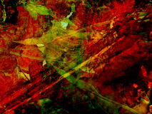 Colorful Abstract Illustration-4. Colorful, abstract illustration of bright reds, greens and dark colors, suitable for a background Royalty Free Stock Photo