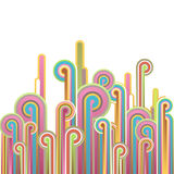 Colorful abstract illustration with. Royalty Free Stock Photo