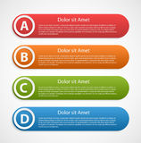 Colorful abstract infographic design template. Royalty Free Stock Images