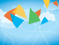 Colorful Abstract Kites Royalty Free Stock Image