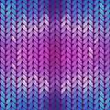 Colorful abstract knitted pattern Stock Image