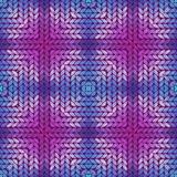 Colorful abstract knitted pattern Stock Photos