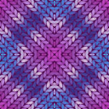 Colorful abstract knitted pattern Stock Photography