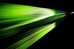 Colorful light beam from a video projection royalty free stock photography