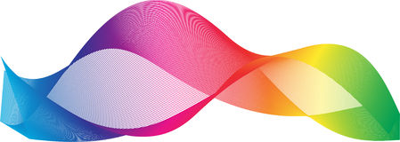 Colorful abstract  light waves background. Stock Photos