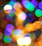 Colorful abstract  lights background. Colorful abstract gold holiday lights background Stock Photos