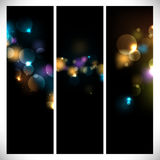 Colorful abstract lights on dark background Royalty Free Stock Image