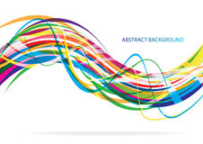 Colorful abstract line background Royalty Free Stock Photography