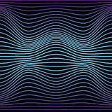 Colorful Abstract Line Wave Seamless Pattern. Texture With Wavy, Billowy Lines For Your Designs. Stock Photo