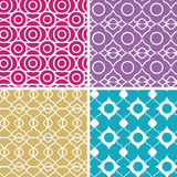 Colorful abstract lineart geometric seamless Royalty Free Stock Photo