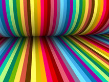 Colorful abstract lines for background. 3d abstract colorful lines with folding paper Stock Photos