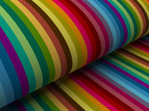 Colorful abstract lines for background. 3d abstract colorful lines with folding paper side angle Royalty Free Stock Image