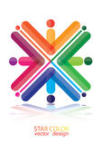 Colorful abstract logo background Royalty Free Stock Photo