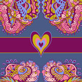 Colorful abstract love card. Abstract decoration, invitation card with ornate detailed. Valentines Day Royalty Free Stock Photos