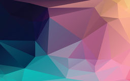 Colorful Abstract Low Poly Vector Background stock illustration