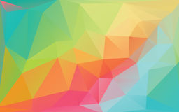 Colorful Abstract Low Poly Vector Background Stock Photo