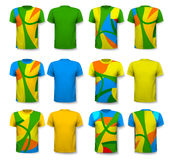 Colorful abstract male t-shirts. Design template. Stock Images