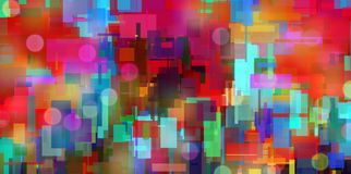 Colorful Abstract. Modern Geometric Colorful Abstract. 3D rendering royalty free illustration
