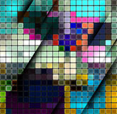 Colorful abstract mosaic background Stock Photos
