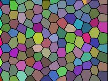 Colorful Abstract mosaic background. Illustration representing an abstract colorful backgrond similar to a mosaic Royalty Free Stock Photos