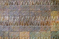 Colorful abstract mosaic ceramic tiles wall textured pattern for Stock Photography