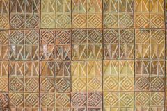 Colorful abstract mosaic ceramic tiles wall textured pattern for Stock Images