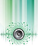 Colorful abstract music background Royalty Free Stock Photos