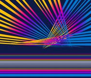 Colorful abstract neon laser lights and stripes background. Design Royalty Free Stock Image