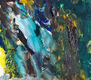 Colorful abstract oil painting Royalty Free Stock Photos