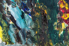 Colorful abstract oil painting Stock Photo