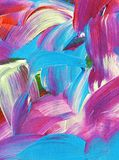 Colorful abstract oil painting. Beautiful colorful abstract oil painting vector illustration