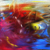 Colorful abstract oil painting. Colorful abstract digital oil painting royalty free illustration