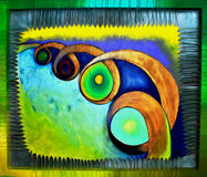 Colorful abstract oil painting Royalty Free Stock Photography